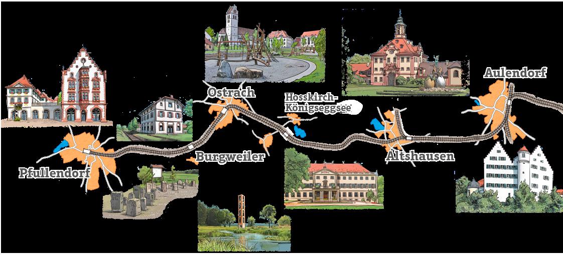 Räuberbahn-Streckenkarte